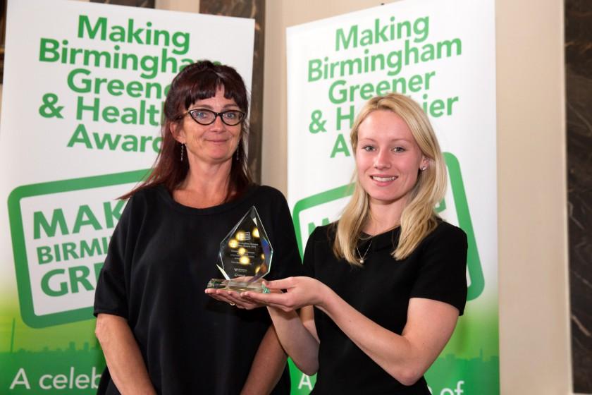 Picture for Birmingham City Council. Birmingham Greener Awards.